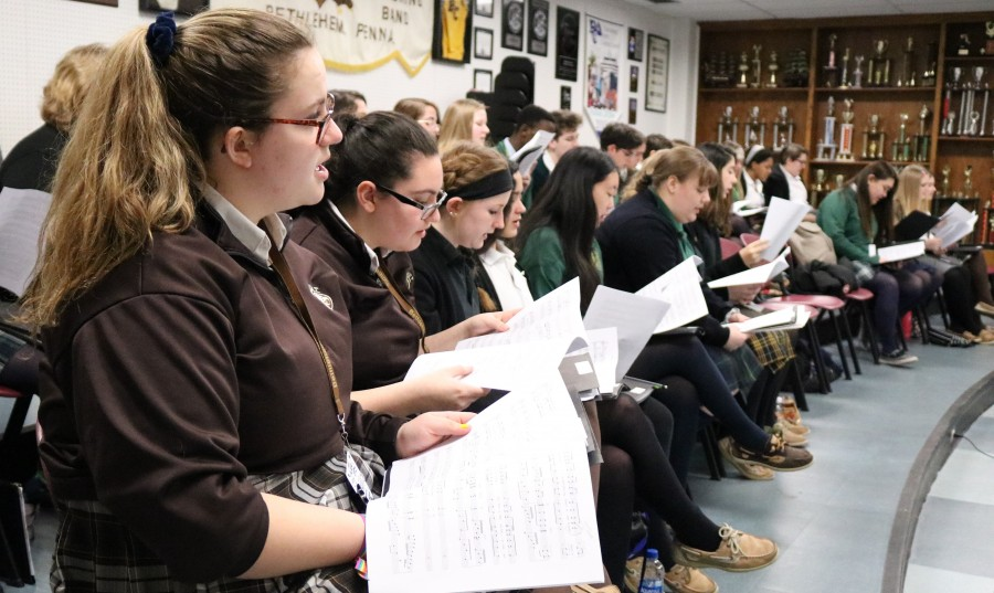 HOSANNA IN EXCELSIS!!! Becahi Hosts Reading Day for Diocesan Music Festival Bethlehem Catholic High School