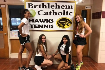 Girls Tennis Celebrates Senior Night Bethlehem Catholic High School